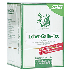 LEBER GALLE-Tee Kräutertee Nr.18a Salus Filterbtl. 15 Stück