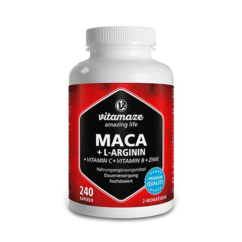MACA 4:1 hochdosiert+L-Arginin Kapseln 240 Stück