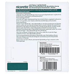 NICORETTE Mint Spray 1 mg/Sprühstoß 2 Stück - Rückseite