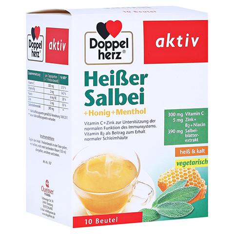 DOPPELHERZ heißer Salbei+Honig+Menthol Granulat 10 Stück