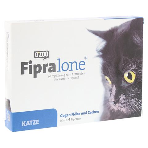 FIPRALONE 50 mg Lsg.z.Auftropf.f.Katzen 4 Stück