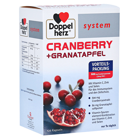 DOPPELHERZ Cranberry+Granatapfel system Kapseln 120 Stück