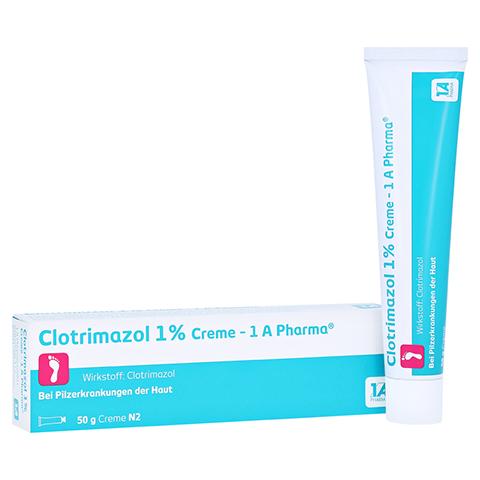 Clotrimazol 1% Creme-1A Pharma 50 Gramm N2