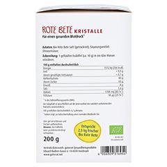 ROTE BETE Kristalle Bio Schoenenberger Pulver 200 Gramm - Linke Seite