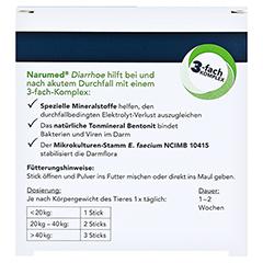 NARUMED Diarrhoe Pulver-Sticks f.Hunde/Katzen 16x1.6 Gramm - Rückseite