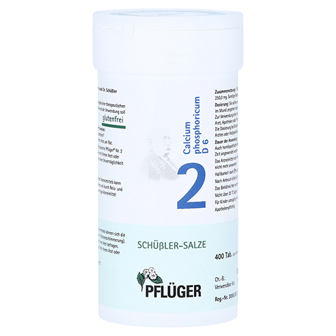 BIOCHEMIE Pflüger 2 Calcium phosphoricum D 6 Tabl. 400 Stück N3