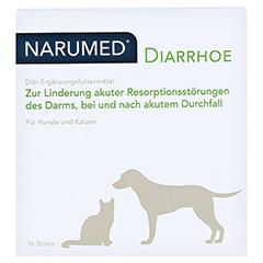 NARUMED Diarrhoe Pulver-Sticks f.Hunde/Katzen 16x1.6 Gramm - Vorderseite