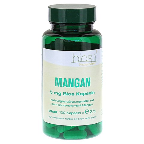 MANGAN 5 mg Bios Kapseln 100 Stück