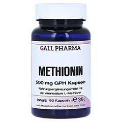 METHIONIN 500 mg GPH Kapseln 60 Stück