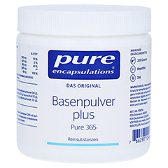 PURE ENCAPSULATIONS Basenpulver plus Pure 365 Plv. 200 Gramm