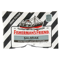 FISHERMANS FRIEND Salmiak ohne Zucker Pastillen 25 Gramm