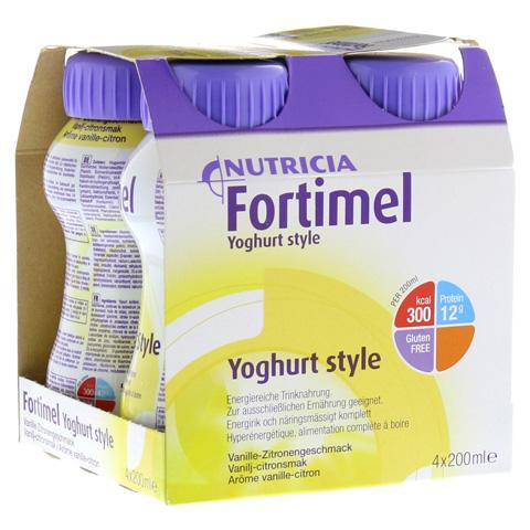 FORTIMEL Yoghurt Style Vanille Zitronegeschmack 4x200 Milliliter