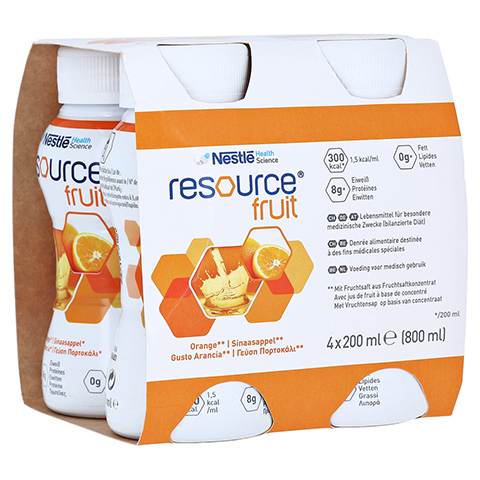 RESOURCE Fruit Orange 4x200 Milliliter