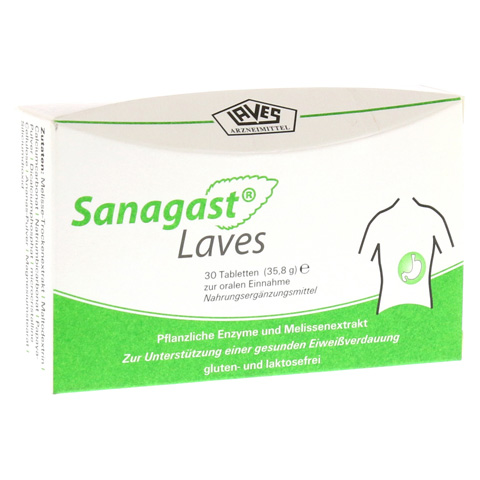 SANAGAST Laves Tabletten 30 Stück