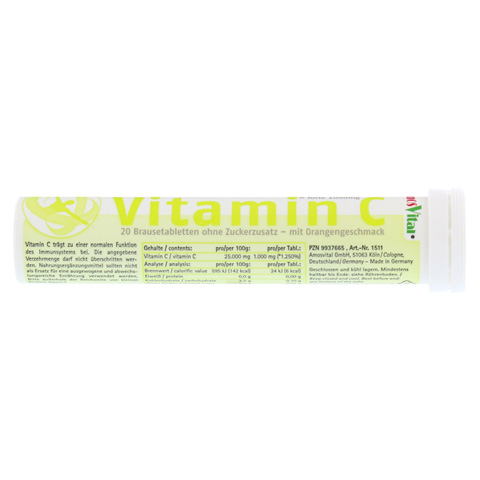 VITAMIN C 1000 mg AmosVital Brausetabletten 20 Stück