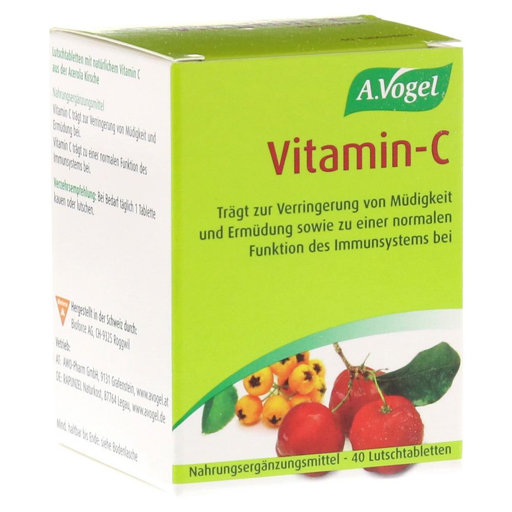 vitamin c lutschtabletten a vogel 40 st ck online bestellen medpex versandapotheke. Black Bedroom Furniture Sets. Home Design Ideas