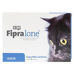 FIPRALONE 50 mg Lsg.z.Auftropf.f.Katzen 4 Stück - Vorderseite