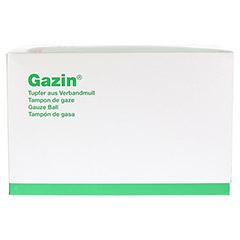 GAZIN Tupfer pflaum.steril 2+2 Schutzr.o.RK 100 Stück - Vorderseite