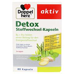 DOPPELHERZ Detox Stoffwechsel-Kapseln 80 Stück - Vorderseite