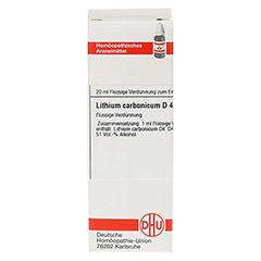 LITHIUM CARBONICUM D 4 Dilution 20 Milliliter N1 - Vorderseite