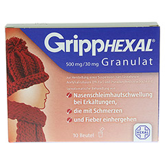 GRIPPHEXAL 500 mg/30 mg Gra.z.Herst.e.Susp.z.Einn. 10 Stück N1 - Vorderseite