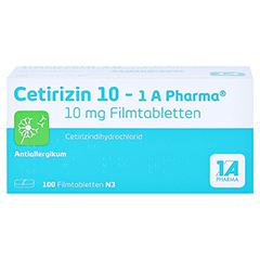 Cetirizin 10-1A Pharma 100 Stück N3 - Vorderseite