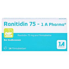 Ranitidin 75-1A Pharma 14 Stück - Vorderseite