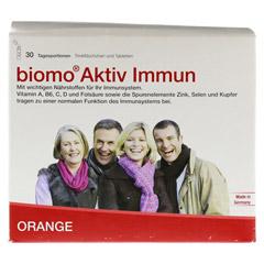 BIOMO Aktiv Immun Trinkfl.+Tab.30-Tages-Kombi 1 Packung - Vorderseite
