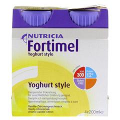 FORTIMEL Yoghurt Style Vanille Zitronegeschmack 4x200 Milliliter - Vorderseite