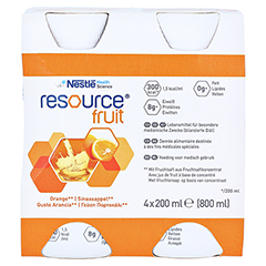 RESOURCE Fruit Orange 4x200 Milliliter - Vorderseite