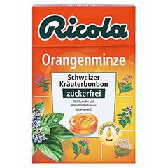 RICOLA o.Z. Box Orangenminze Bonbons 50 Gramm - Vorderseite