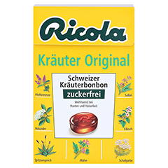 RICOLA o.Z.Box Kräuter Bonbons 50 Gramm - Vorderseite