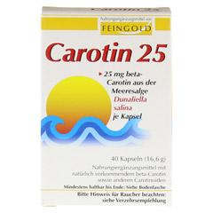CAROTIN 25 Feingold Kapseln 40 Stück - Vorderseite