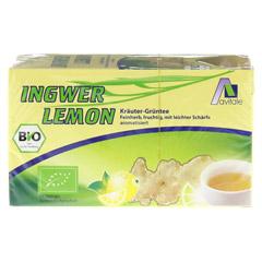 INGWER LEMON Biotee Filterbeutel 20 Stück - Vorderseite