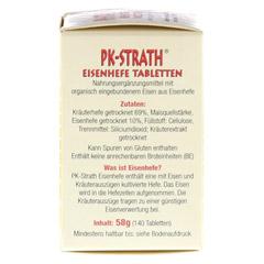 PK STRATH Eisenhefe Tabletten 140 Stück - Linke Seite