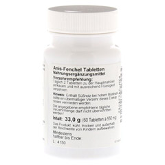 ANIS FENCHEL Tabletten 60 Stück - Linke Seite
