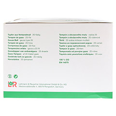GAZIN Tupfer pflaum.steril 2+2 Schutzr.o.RK 100 Stück - Linke Seite
