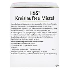 H&S Kreislauftee Mistel 20x2.0 Gramm - Linke Seite