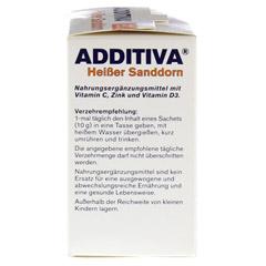 ADDITIVA heißer Sanddorn Pulver 100 Gramm - Rechte Seite