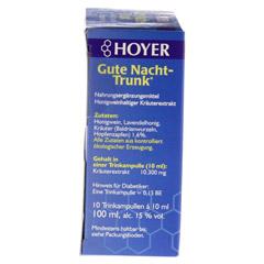 HOYER Gute Nacht Trunk Trinkampullen 10x10 Milliliter - Rechte Seite