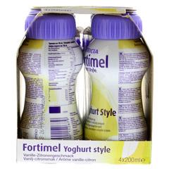 FORTIMEL Yoghurt Style Vanille Zitronegeschmack 4x200 Milliliter - Rechte Seite