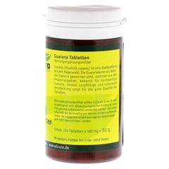 Guarana Tabletten 200 mg Extraktpulver 100 Stück - Rechte Seite