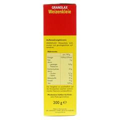 WEIZENKLEIE Granolax Grandel Pulver 200 Gramm - Rechte Seite