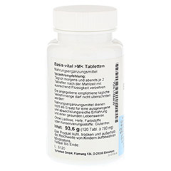 BASIS VITAL M Tabletten 120 Stück - Rechte Seite