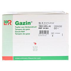 GAZIN Tupfer pflaum.steril 2+2 Schutzr.o.RK 100 Stück - Rechte Seite