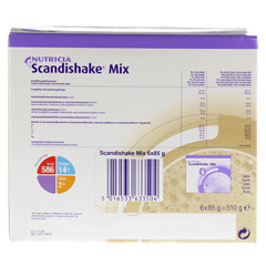 SCANDI Shake Mix Kakao Pulver 6x85 Gramm - Rückseite