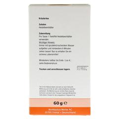 HEIDELBEERBLÄTTER Tee 60 Gramm - Rückseite