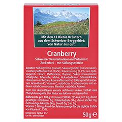RICOLA o.Z.Box Cranberry Bonbons 50 Gramm - Rückseite