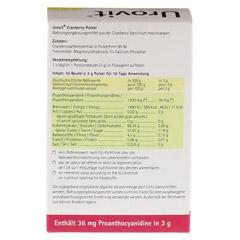 UROVIT Cranberry Pulver 10x3 Gramm - Rückseite