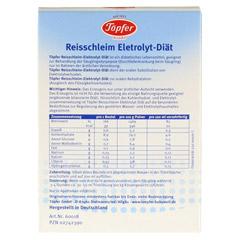 TÖPFER Reisschleim Elektrolyt Diät Pulver 5 Stück - Rückseite